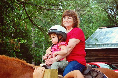 riding with grandmom
